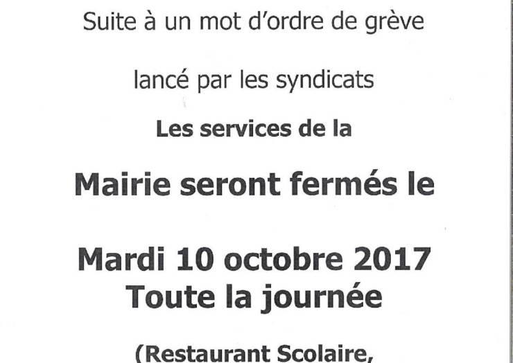 Grève du 10 octobre 2017