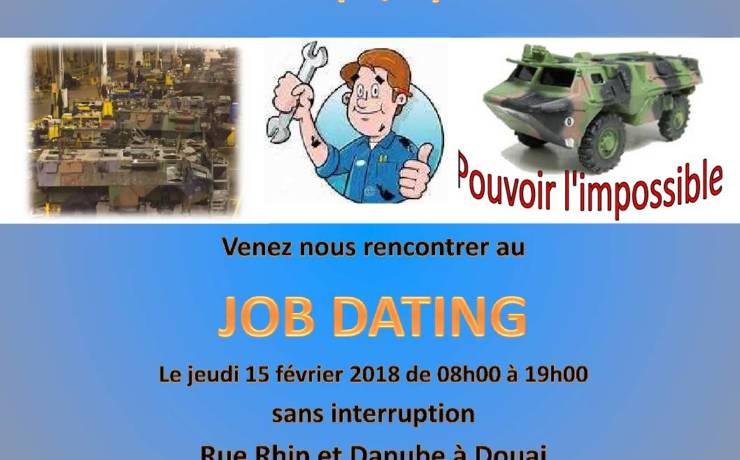 Job dating – Mécanicien civil