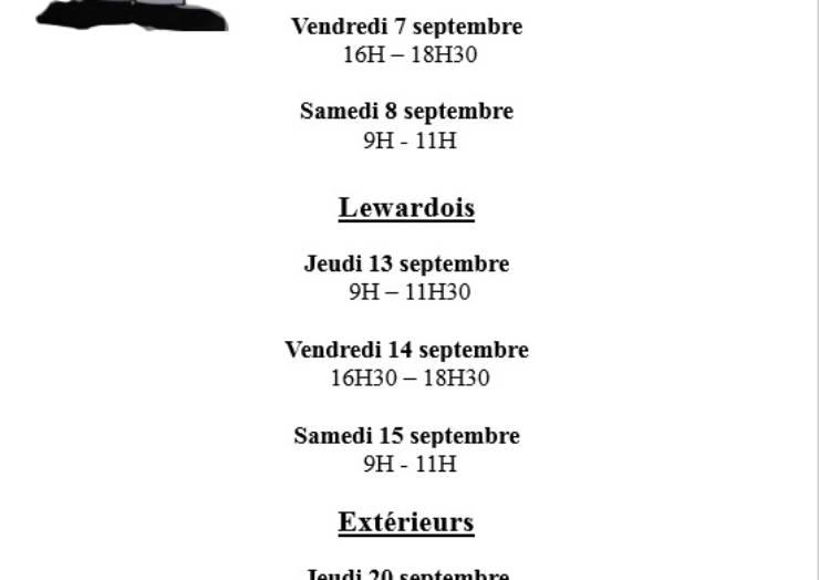 Dates d'inscription pour la brocante de la fête de la châtaigne – 14 octobre 2018