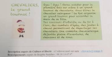 Sortie théâtre de culture et liberté à Douai