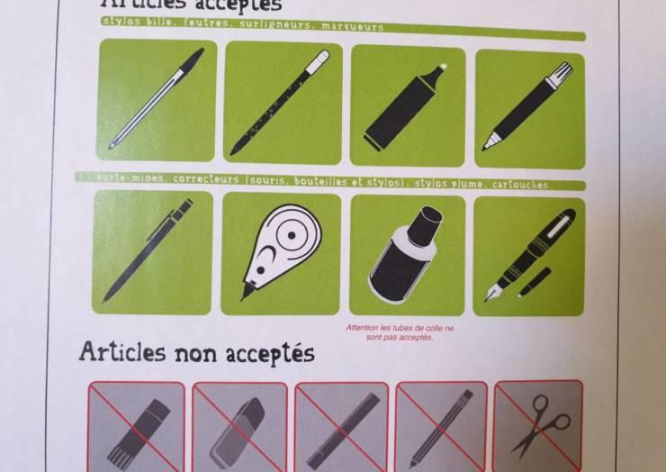 Recyclage des instruments d'écriture