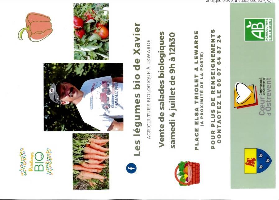 Vente de légume le 4 juillet
