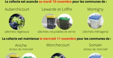 Collecte des déchets – 11 novembre 2020