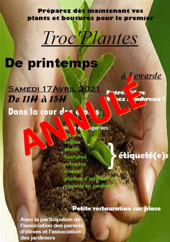 Annulation troc de plante