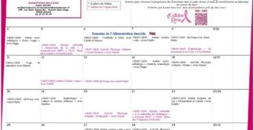 Planning espace ressources cancers octobre / octobre rose